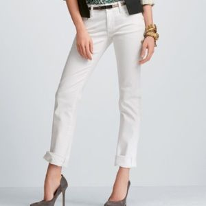 Cabi Distressed White Stella Jean. Size 8